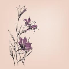 Fototapete - Lily flowers bouquet