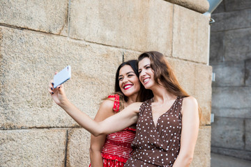 Two women taking a selfie