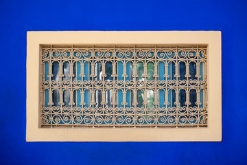 Colorful windows with security steel bars