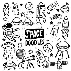 UFO and Aliens Doodles