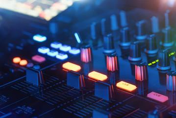 DJ Mischpult Mixer mit Lichter - Party Disco (lights blue)