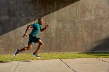man running super fast