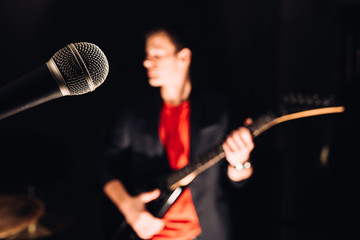 Microphone and musician