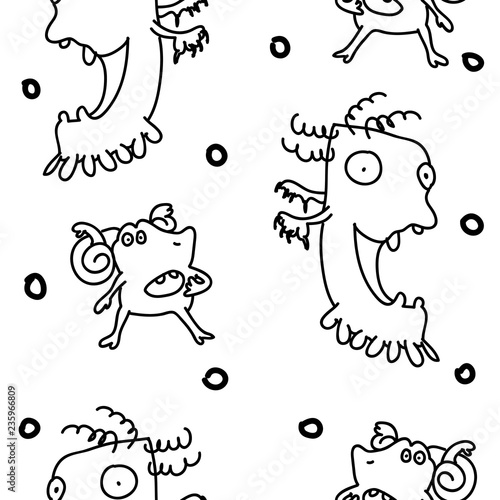 Cute Monsters Stock Image And Royalty Free Vector Files On Fotolia