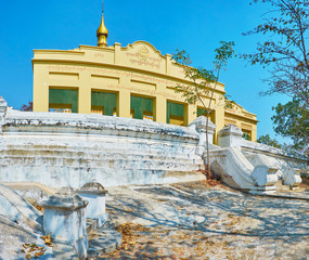 The old shrine of U Min Thonze Temple, located on the top of Sagaing Hill, on February 21 in Sagaing