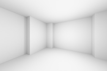 Empty abstract white room simple illustration