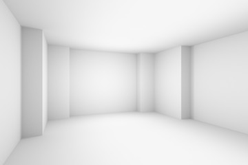 Empty abstract white room, simple illustration