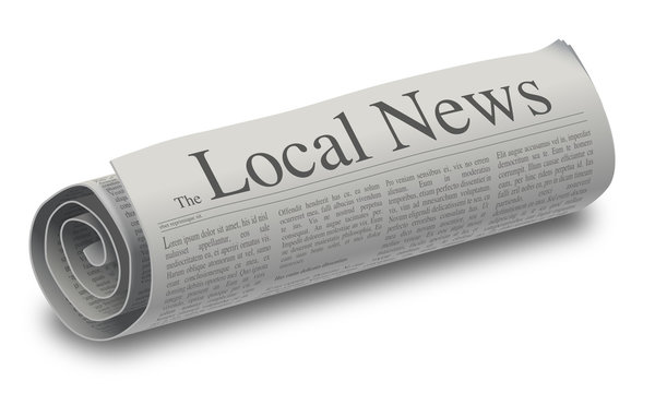 Illustration of a rolled up local news paper.