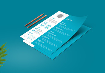 Light Blue and White Resume Layout