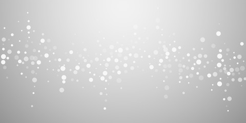 White dots Christmas background. Subtle flying sno