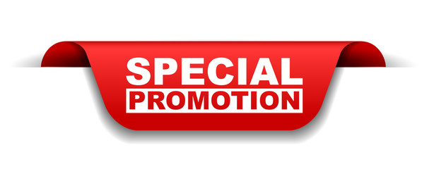 red vector banner special promotion