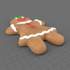 Gingerbread woman cookie
