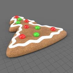 Gingerbread tree cookie