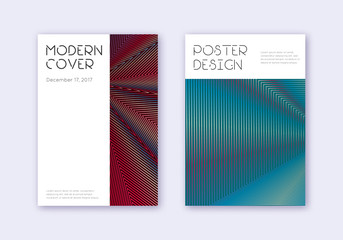 Minimal cover design template set. Red white blue