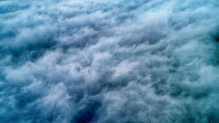 雲海の空撮