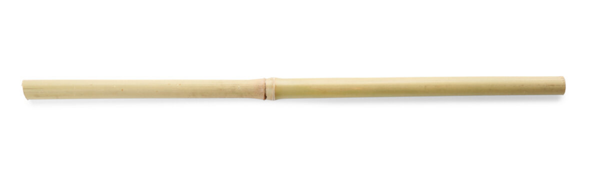 Dry bamboo stick on white background