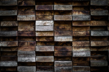 Close up of stacks of wood