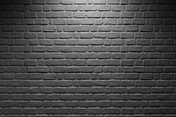 Abstract background light on brick wall black and white