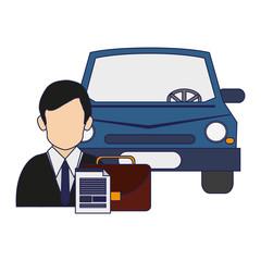 Businessman cars seller avatar symbol