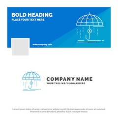 Blue Business Logo Template for Finance, financial, insurance, money, protection. Facebook Timeline Banner Design. vector web banner background illustration