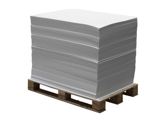 Pallet with offset paper