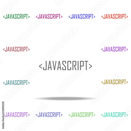 javascript icon  Elements of online and web filled in multi