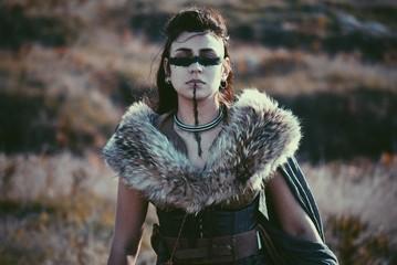 Viking fantasy woman standing outdoors