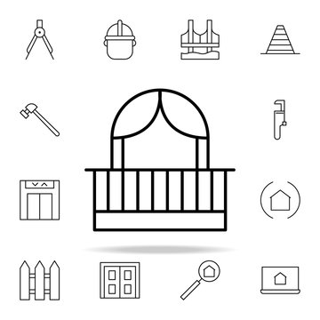 facade balcony icon. architecture icons universal set for web and mobile