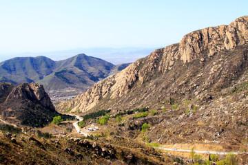mountain scenery, tianjin, China Papier Peint