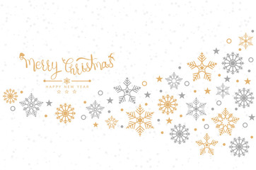 Christmas background with snowflakes, banner, card. Vector illustration