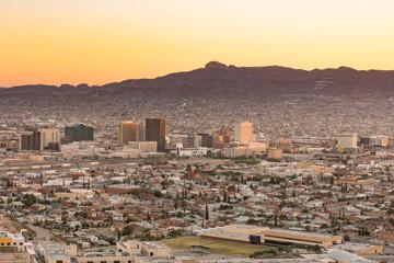 El Paso, Texas Night Skyline