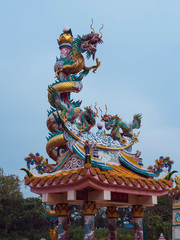 Dragon Sculpture Temple in China