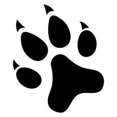 Paw Prints. Logo. Vector Illustration