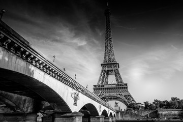 Photo sur Plexiglas Tour Eiffel The Iconic Eiffel Tower