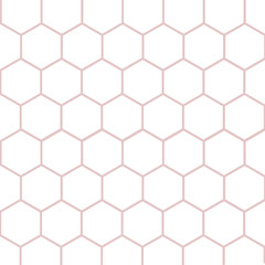 Design business Empty template isolated Minimalist graphic layout template for advertising . Outline of Geometric Shape Hexagon in Seamless Repeat Pattern Vector