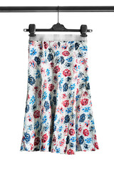 Skirt on clothes rack