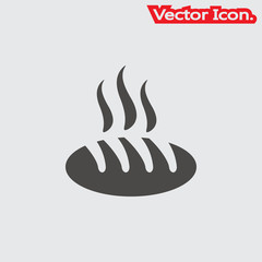 Bread icon isolated sign symbol and flat style for app, web and digital design. Vector illustration.