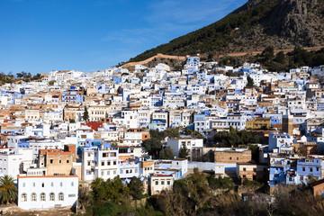 Blick auf Chefchaouen in Marokko