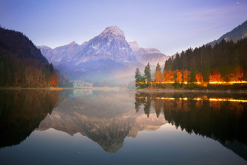 Lake Obersee autumn morning