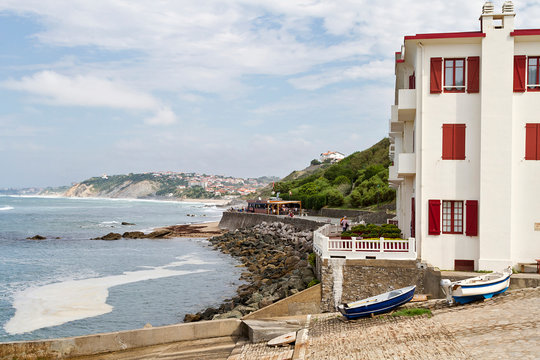 Bidart and Guethary town in Basque COuntry, south of France
