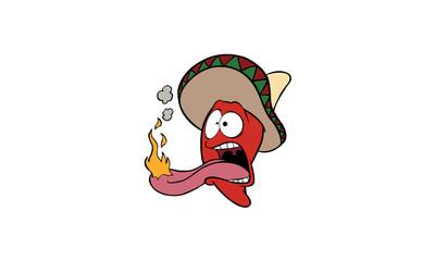 Habanero on Fire Cartoon