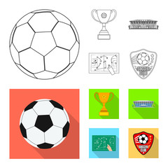 Vector design of soccer and gear logo. Collection of soccer and tournament stock symbol for web.