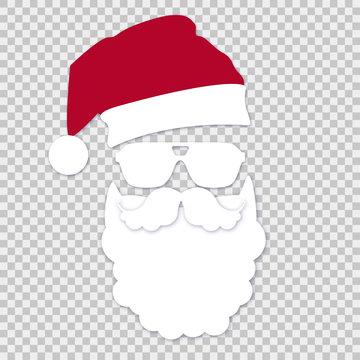 Santa with glasses on isolates background