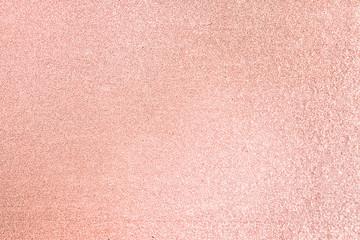 Close up of pink blush glitter textured background