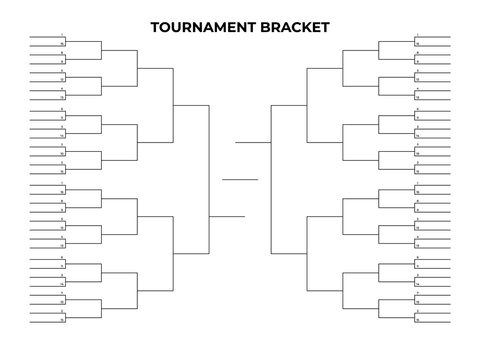 March madness bracket. Empty tournament infographics template.