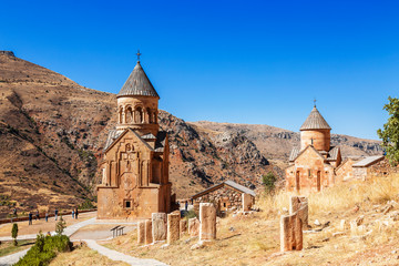The medieval monastery of Noravank in Armenia. Was founded in 1205. Wall mural