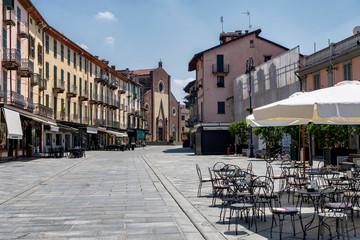 Saluzzo, Piedmont, Italy, historic city
