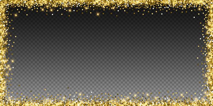 Sparkling gold luxury sparkling confetti. Scattere