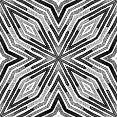 Dark black and white Geometric Watercolor. Dazzlin