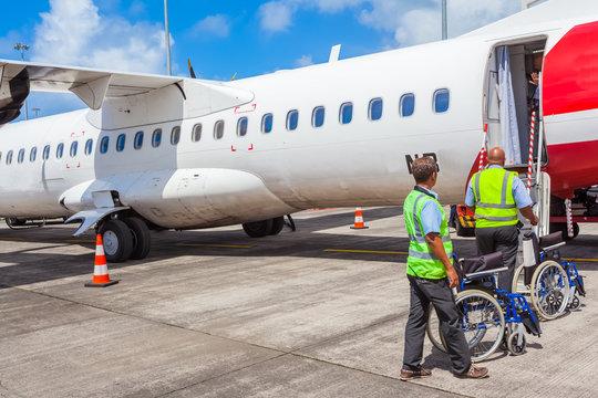 Accueil de passagers à mobilité réduite